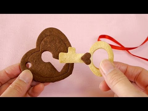 Heart Key and Lock Cookies Recipe for Valentine