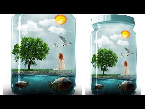 Photo Manipulation World In A Bottle Photoshop Tutorial Cc