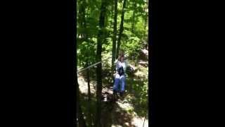 Zip Lining at the Huntsville Treetop Trekking www.treetoptrekking.com