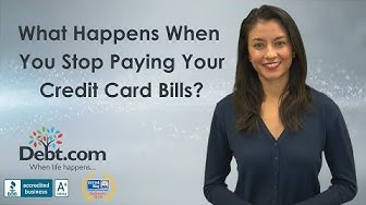 What happens when you stop paying credit card bills