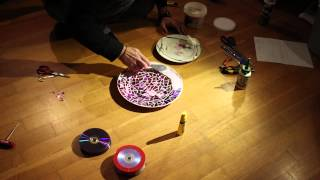 Diy - Mosaic Plate From Dvds