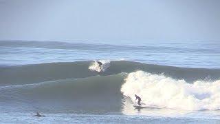 SURFING A FIRING POINT BREAK ON BIG SWELL