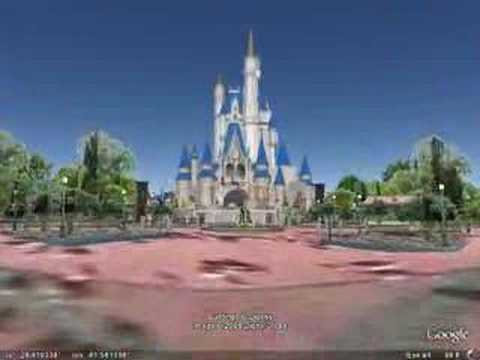 Disney World 3D In Google Earth