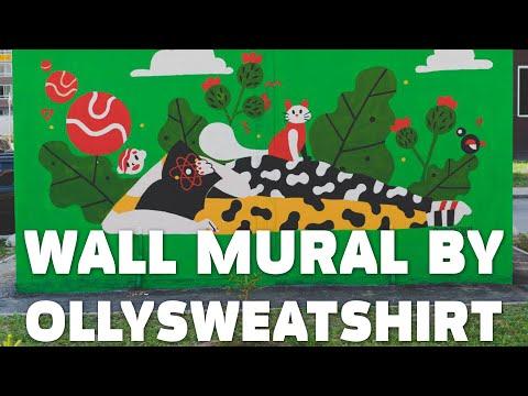 Роспись стены на улице / Wall Mural Timelapse by Ollysweatshirt
