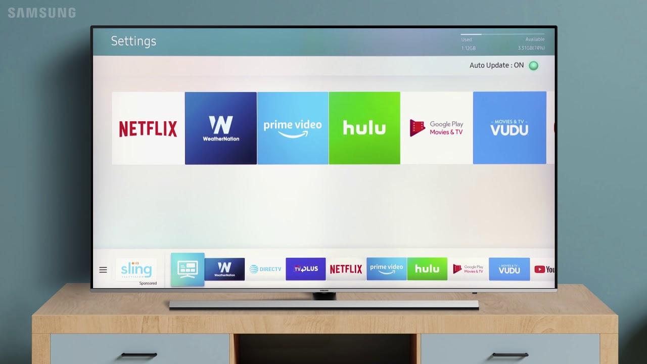 update apps on samsung tv
