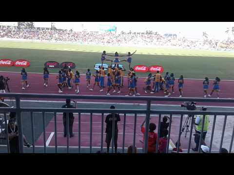 Suva Grammar School cheerleaders 2016