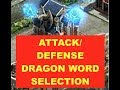 Clash Of Kings : Attack/Defense Dragon Word