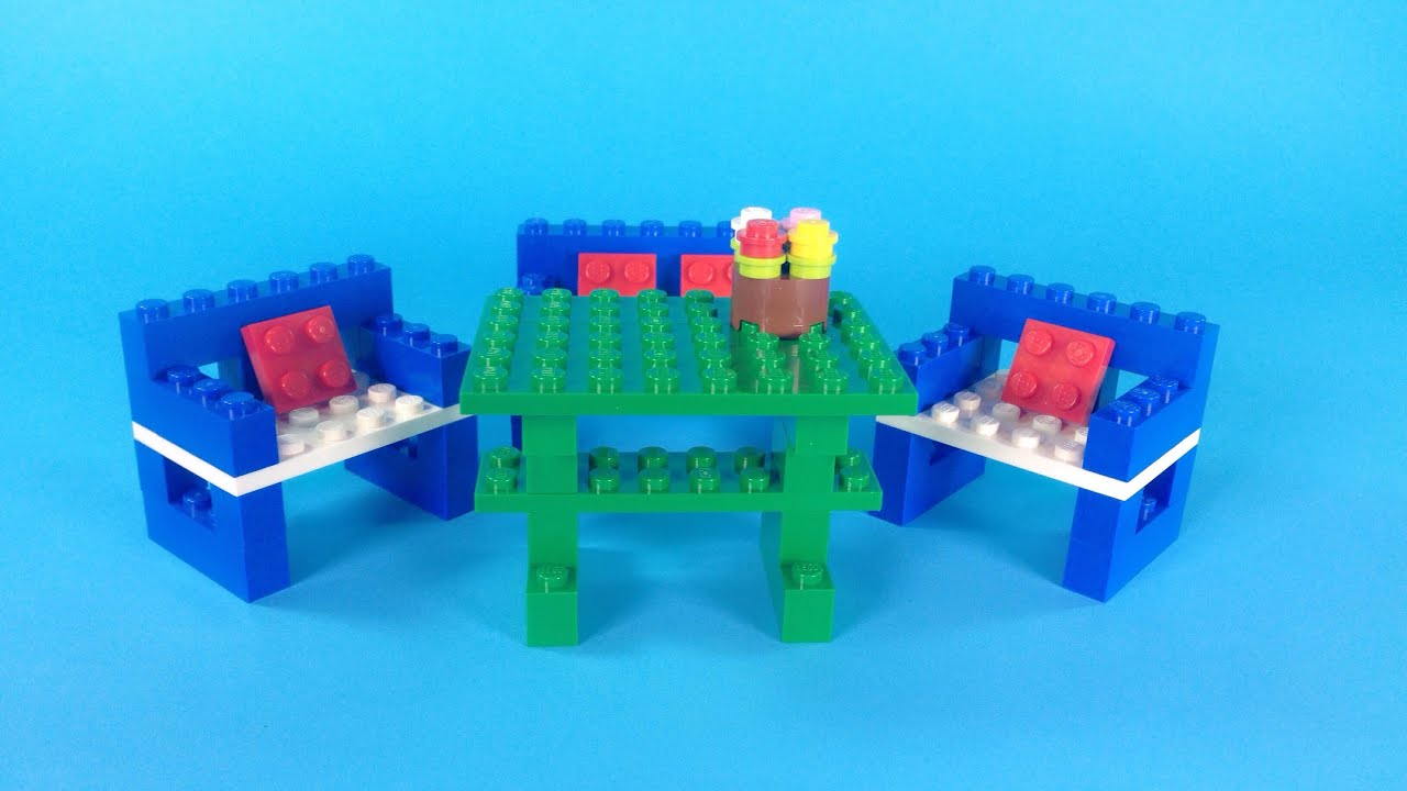 Perfect How To Make Lego FURNITURE (TABLE U0026 CHAIRS)  10664 Lego Bricks And More  Creative Tower Tutorial   YouTube