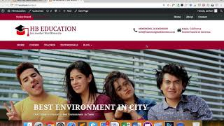 One Click Demo Import for HB Education WordPress Theme