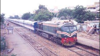 Pakistan Railways express trains assorted videos filmed in 1994.