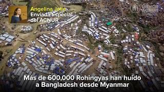 Angelina Jolie: No debemos dar la espalda a los refugiados Rohingya