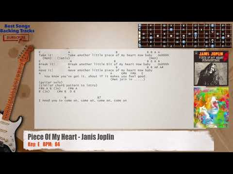 Piece Of My Heart - Janis Joplin Guitar Backing Track with chords and lyrics