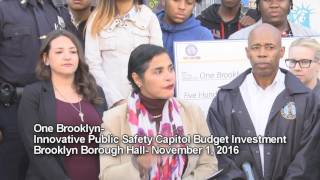 One Brooklyn-- FY17 budget to advance public safety and community-police relations in the borough
