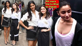 HOT Katrina Kaif & Alia Bhatt Spotted INSIDE Mehboob Studio Shooting For Color Tv's Vogue BFF's