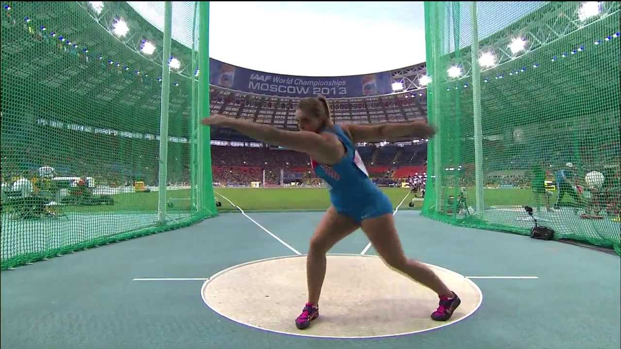 Moscow 2013 - Discus Throw Women - Final - YouTube
