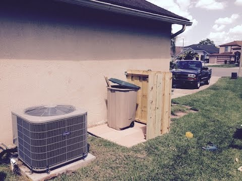 How To Build Small Enclosure To Hide Your Garbage Can