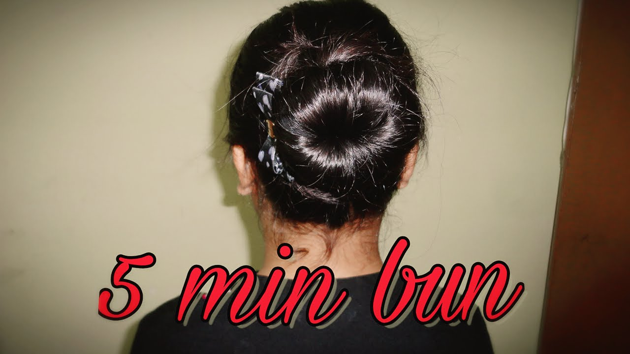 air hostess inspired 5 min hair bun tutorial | beauty box - youtube