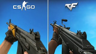 CrossFire vs Counter-Strike: Source - Weapon Animations & Sounds [Comparison]