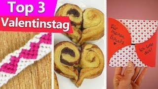 VALENTINSTAG Geschenk selber machen | 3 Ideen für den Freund oder Freundin | Last Minute DIY deutsch