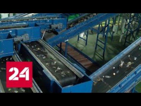 В Тюмени начал работу самый крупный в России завод по переработке мусора - Россия 24