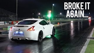 Zeroy's First Pass at the Drag Strip (Twin turbo 370z)