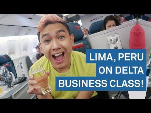 GOING TO LIMA, PERU ON DELTA BUSINESS ONE!!! - Day 1 RomeAroundTheWorld Peru - ohitsROME Travel