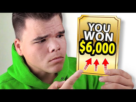 SCRATCH CARD CHALLENGE! (I Won $6,000!!)