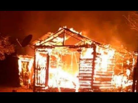 Gabrielly Feijó vai na casa que é incendiada (incêndio criminal).