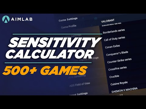 How to convert your sensitivity to any game in Aim Lab | 500+ Games