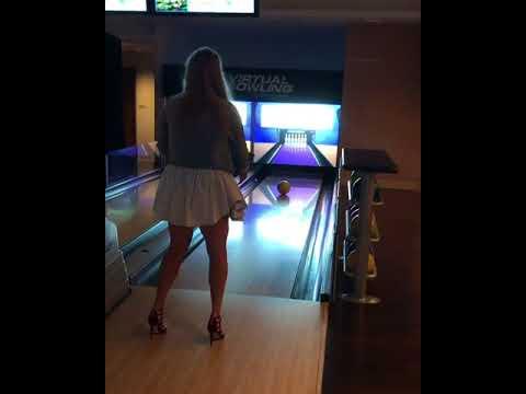 Anastasia Pavlyuchenkova plays bowling - hot legs