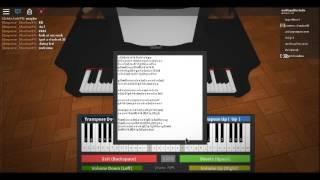 """Roblox Piano Suonare """"River scorre dentro di te"""" (SHEETS IN DESCRIPTION)"""