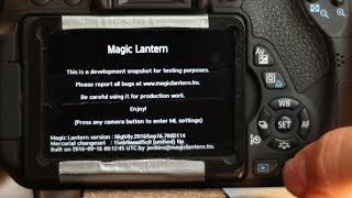 Tutorial: How to install Magic Lantern [Canon EOS 700D/ Rebel T5i]