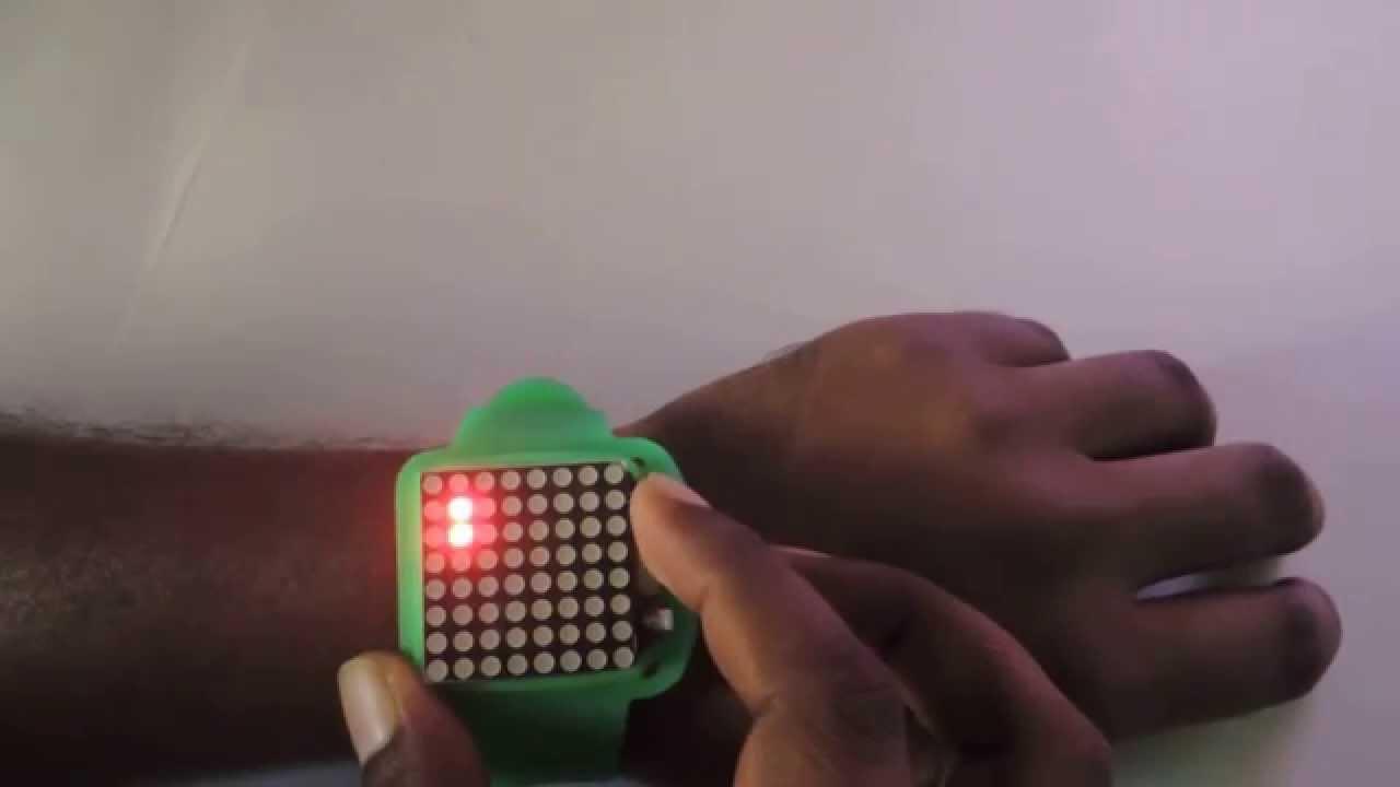 DIY Dot-Matrix Wrist Watch