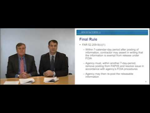 """GovCon OnDemand: Final Rule - Public Access to FAPIIS """"Be Quick on the Draw and Right on the Law"""""""