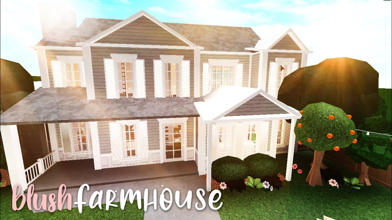 Bloxburg: Blush Farmhouse   House Build
