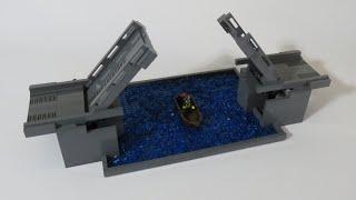 working bascule bridge lego drawbridge custom moc trade show lego display model builder