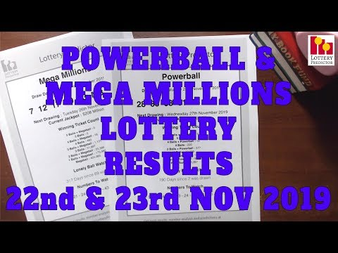 22nd & 23rd Nov 2019 - Powerball & MegaMillions Results, WInners & Statistics