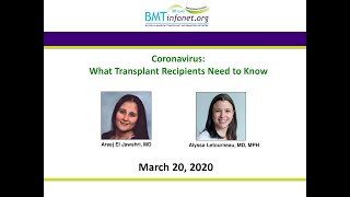 Coronavirus: what transplant recipients need to know