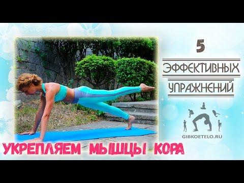 5 Эффективных упражнений для УКРЕПЛЕНИЯ МЫШЦ КОРА / Укрепляем пресс, бока, ягодицы и спину
