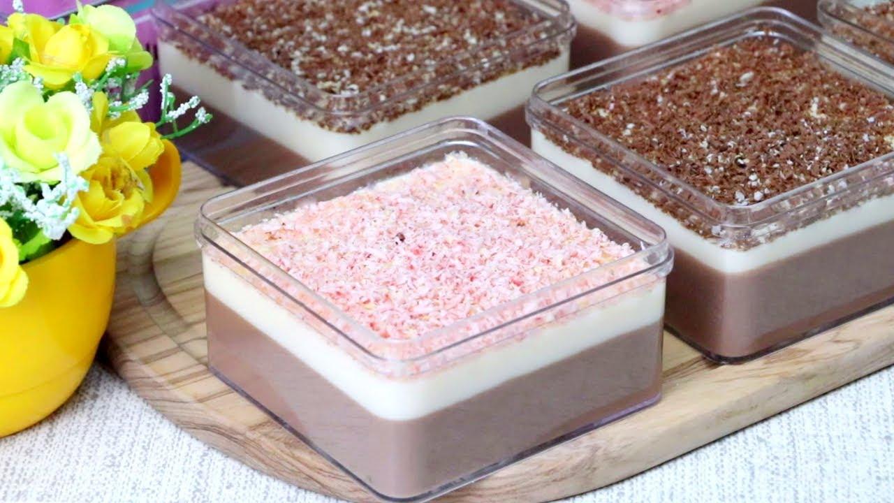 Resep Puding Cokelat Saos Vla Vanila    How To Make a Delicious Chocolate Pudding With Vanilla Sauce