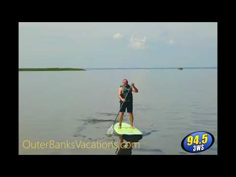 Jonny Hartwell - DRONE VIEW: Of Jonny Hartwell Stand Up Paddle Board in OBX