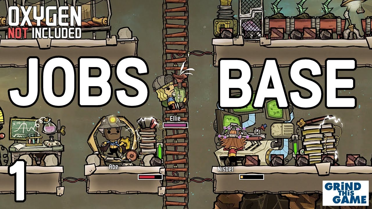 Oxygen Not Included - Occupational Upgrade Base #1 (JOBS, HATS & CONVEYOR  RAILS)