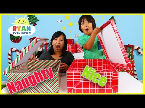 Naughty vs. Nice CHRISTMAS PRESENT CHALLENGE!! from YouTube · Duration:  16 minutes 29 seconds