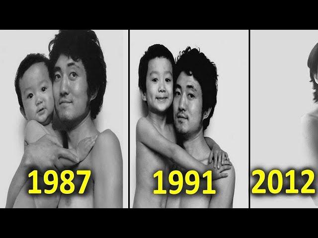 Ce Père prend une photo avec son fils chaque année pendant 27 ans , regardez la surprise !