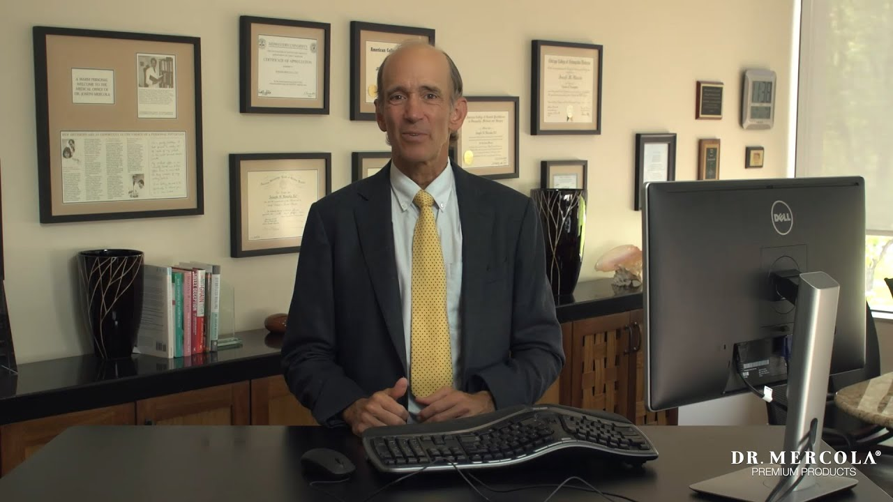 Nice Dr. Mercola Demonstrates The Health Benefits Of A Standing Desk