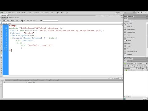 search for a string in a pdf file using php - YouTube