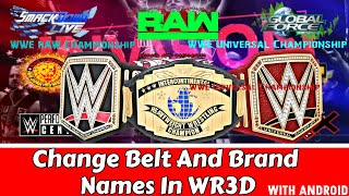 Download How To Change Championship And Brands Name In Wr3d