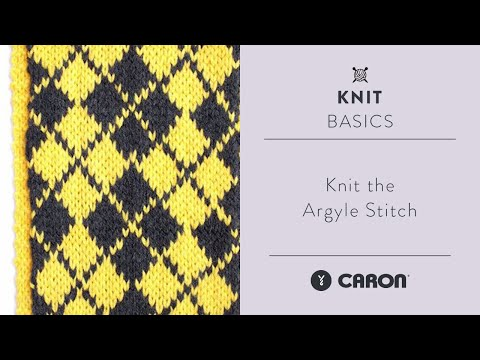 How To Knit The Argyle Stitch Youtube