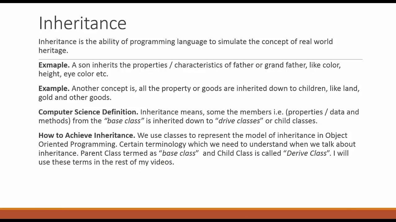 object oriented programming inheritance definition object oriented programming inheritance definition