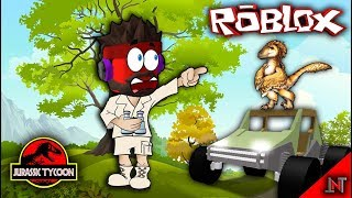 ROBLOX Indonesia #103 Jurassic Tycoon | Compressed in chicken Patok in new cars